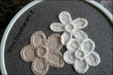 دوخت گل,سایت گلدوزی,ساخت گل با نخ,آموزش گلسازی
