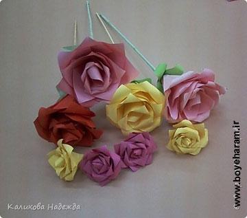 گل کاغذی,ساخت گل کاغذی,آموزش گل سازی,گل