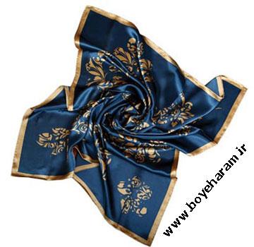 روسری آبی نفتی,مدل روسری آبی نفتی