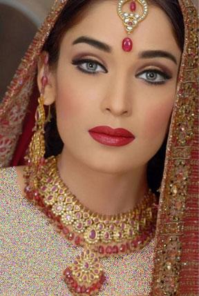 آرایش عروس هندی مدل ۲۰۱۵