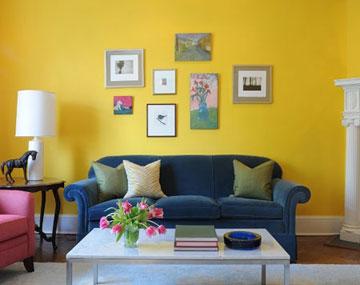 چیدمان اتاق زرد رنگ,مدل اتاق زرد