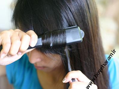 اتو کردن مو,آموزش حالت دادن به مو,فر کردن مو با اتو,قوانین اتو زدن به مو,آموزش تصویری اتو زدن به مو,آموزش استفاده از اتوی مو,ضررهای اتوی مو,زیان های اتوی مو,ایا اتو کردن مو ضرر دارد؟