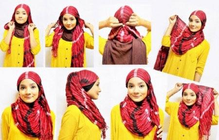 آموزش بستن شال و روسری,آموزش تصویری بستن شال و روسری