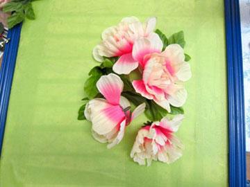 دوخت گل روی آیینه و تابلو عکس