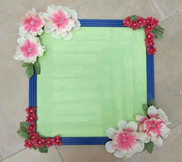 تزئین آیینه با گل