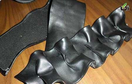 آموزش زیباتر کردن کفش,نو کردن کفش,تبدیل کفش قدیمی به جدید مدل