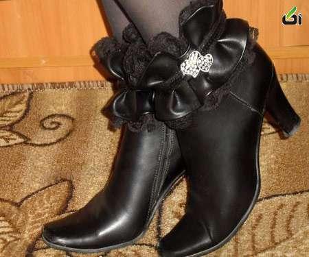 آموزش گلدوزی روی کفش,تزئین چکمه,گلدوزی با چرم,مدل کفش چرم