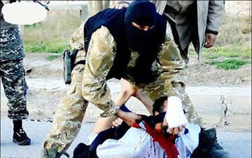 بریدن سر افسر عراقی