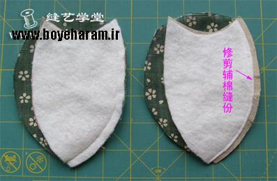 برش الگوی کیف زنانه آرایشی