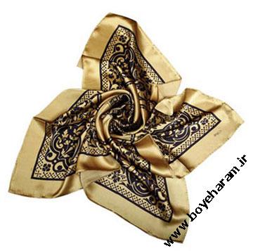 روسری طلایی,مدل روسری طلایی