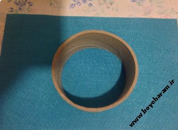 ساخت کاردستی با حلقه چسب شیشه ای
