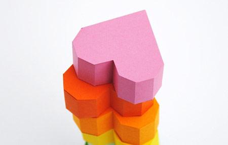 جعبه کادو,جعبه قلبی شکل,ساخت جعبه کادو
