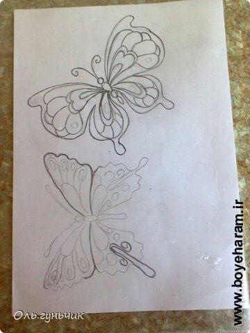 ساخت پروانه با نخ