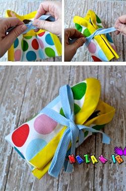 ساخت جعبه عروسکی با پارچه (6)