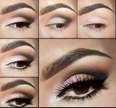 مدل آرایشی چشم,آموزش خودآرایی چشم