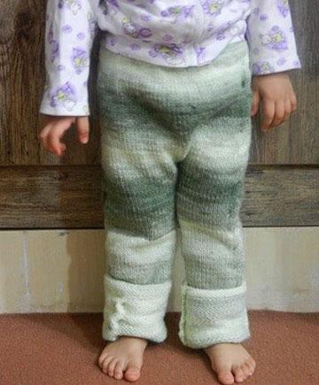 شلوار بافتنی بچه گانه,مدل شلوار بافتنی کودک