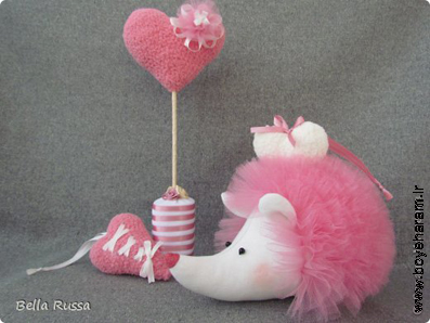 Игрушка Мастер-класс 8 марта День рождения Шитьё Ежик Розовое облачко Бусины Нитки Сетка Ткань фото 1