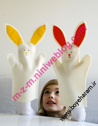 آموزش ساخت عروسک نمایشی خرگوش