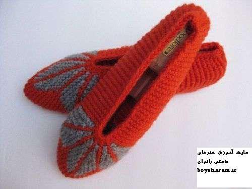 جوراب روفرشی قلاب بافی