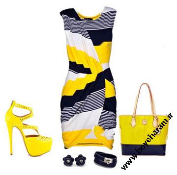 ست لباس زرد,مدل لباس زرد زنانه