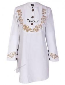 مدل مانتو ایرانی سفید رنگ