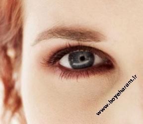 آرایش قهوه ای,مدل آرایش قهوه ای,آرایش چشم