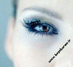 مدل آرایش آبی,مدل آرایش آبی رنگ,آرایش آبی
