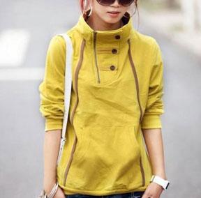 سویشرت دخترانه زرد