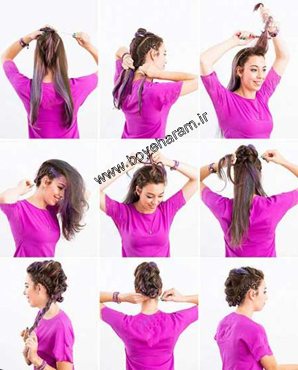 بافت مو,آموزش بافت مو,بافت مو به زیباترین شکل,آموزش بافت انواع مو,بافت موی سر,بافت مو به صورت موهاک فرانسوی,مدل موی موهاک فرانسوی,مدل های بافتنی مو,مدل بافت مو,آموزش آرایش مو,سایت آموزش آرایشگری
