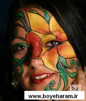 تصاوير,تصاوير هنري,عكس هنري,نقاشي,نقاشي صورت,آموزش نقاشي صورت,نقاشي روي صورت,نقاشي كردن صورت