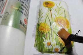 کشیدن طرح,آموزش نقاشی روی اجسام
