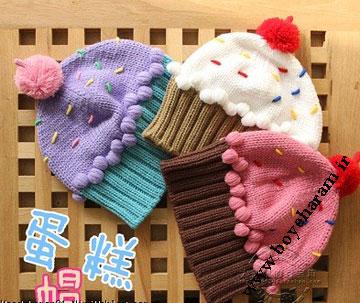 کلاه بچه گانه,کلاه به شکل بستنی,کلاه کودک به شکل بستنی
