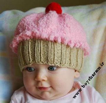 بافت کلاه,بافت کلاه بچه گانه,کلاه بستنی,بافت کلاه کودک بستنی