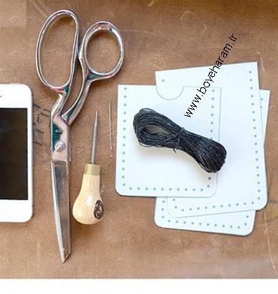وسایل لازم برای دوخت کیف موبایل,وسایل مورد نیاز برای دوخت کیف گوشی همراه