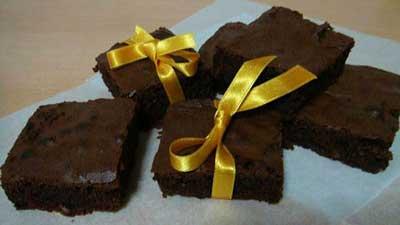 طرز پخت کیک براونی,طرز درست کردن کیک براونی