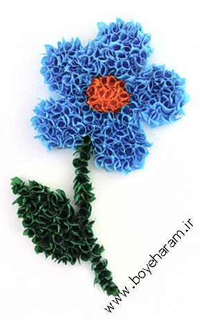 تابلو برجسته,ساخت تابلو گل,آموزش گل سازی