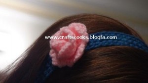 گیره مو,گیره موی بافتنی,بافت گیره مو,بافت گل سر,گل سر,گل سر بافتنی