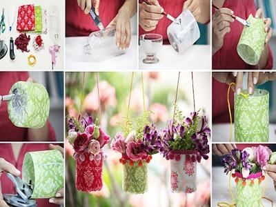 ساخت گلدان تزييني,آموزش تصويري ساخت گلدان تزييني,آموزش تزيين خانه,ساخت گلدان,ساخت كاردستي,آموزش گلسازي