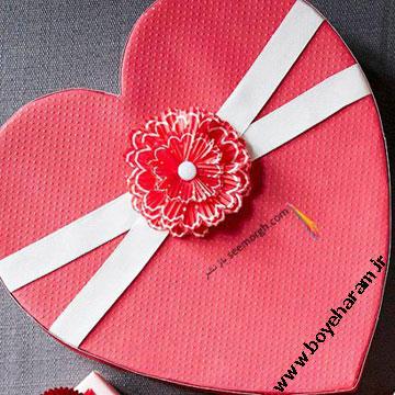 جعبه شکلات قلبی شکل ولنتاین