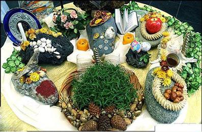 تزئین سفره هفت سین عید 94