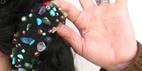 آموزش تزئین کش یا تل مو با سنگ و منجوق دوزی