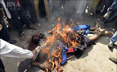 اخبار سوزانده شدن مظنونین انفجار لاهور