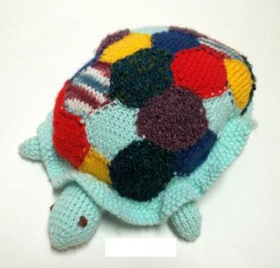 عروسک لاکپشت قلاب بافی
