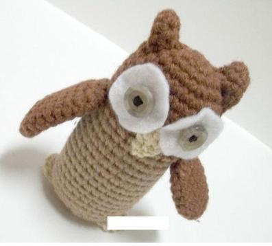 عروسک جغد قلاب بافی,بافت عروسک پرنده