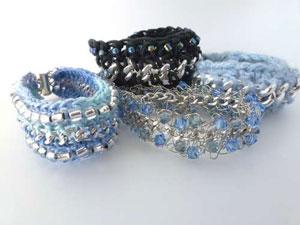 ساخت دستبند زنجیری,دستبند سازی,ساخت دستبند,ساخت دستبند با کاموا و زنجیر