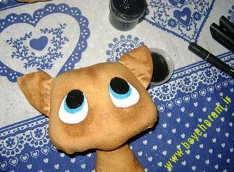ساخت عروسک گربه12