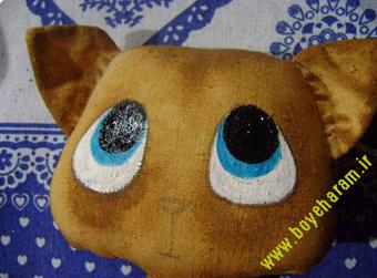 ساخت عروسک گربه13