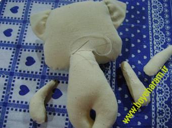 ساخت عروسک گربه7