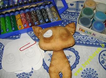 ساخت عروسک گربه9