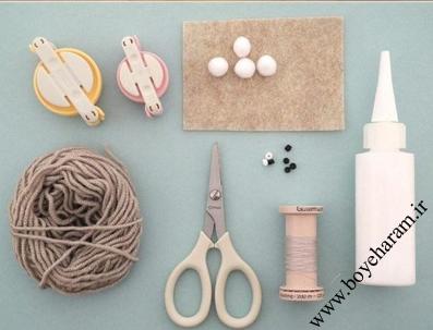 وسایل مورد نیاز برای ساخت عروسک خرگوش